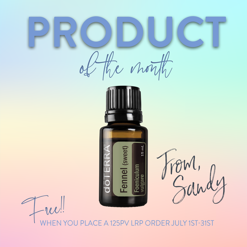 Free 15ml Fennel Essential Oil in July for current members, From Sandy